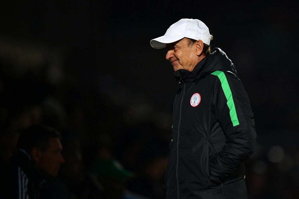 Making the Super Eagles Rohr. (Picture Courtesy - AFP/Getty Images)