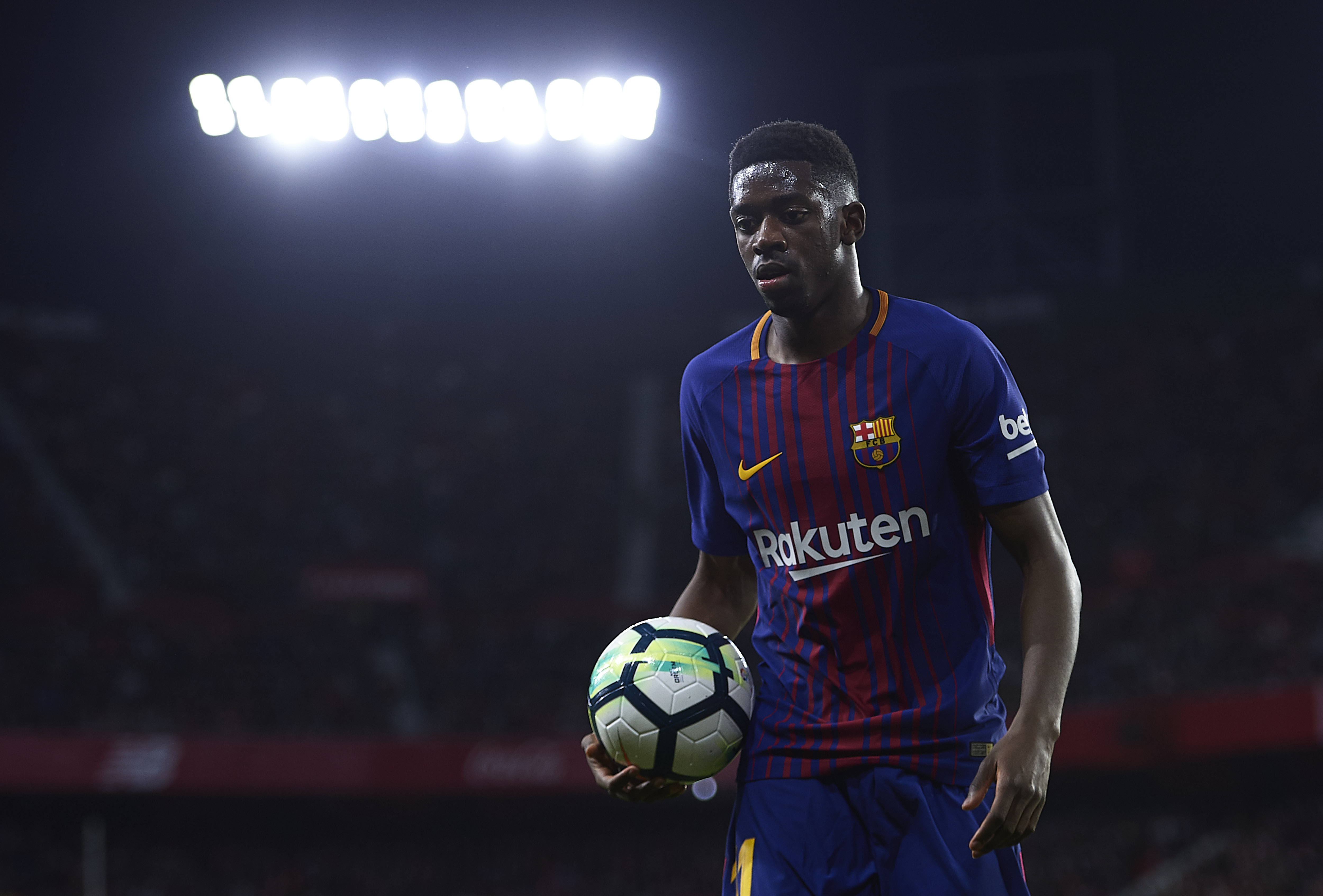 Ousmane Dembele could look to move elsewhere in search of first team football as his chances of succeeding at Barcelona remain in doubt. (Courtesy: AFP/Getty)