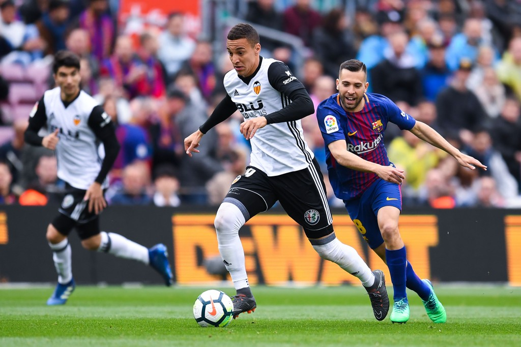 Rodrigo has led the Valencia attack admirably in the 2017-18 campaign. (Picture Courtesy - AFP/Getty Images)