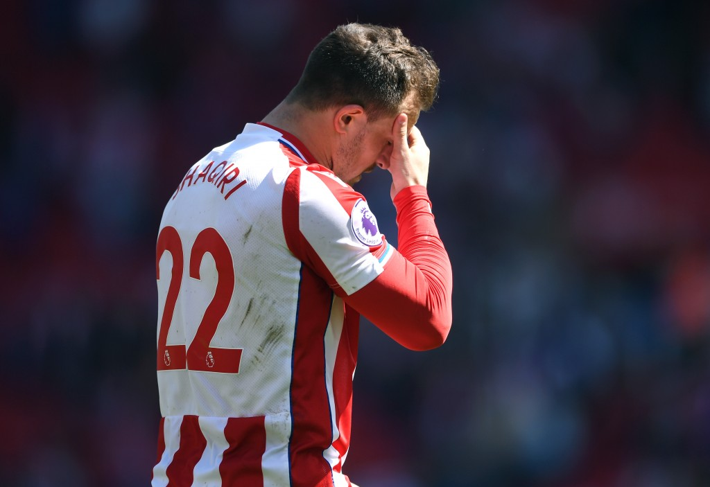 A difficult season at Stoke City, Shaqiri would be hoping for a better time at a new club this season. (Picture Courtesy - AFP/Getty Images)