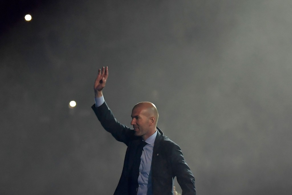 Zinedine Zidane returned to the helm at Real Madrid less than one year after bidding goodbye to the club. (Photo by Oscar del Pozo/AFP/Getty Images)