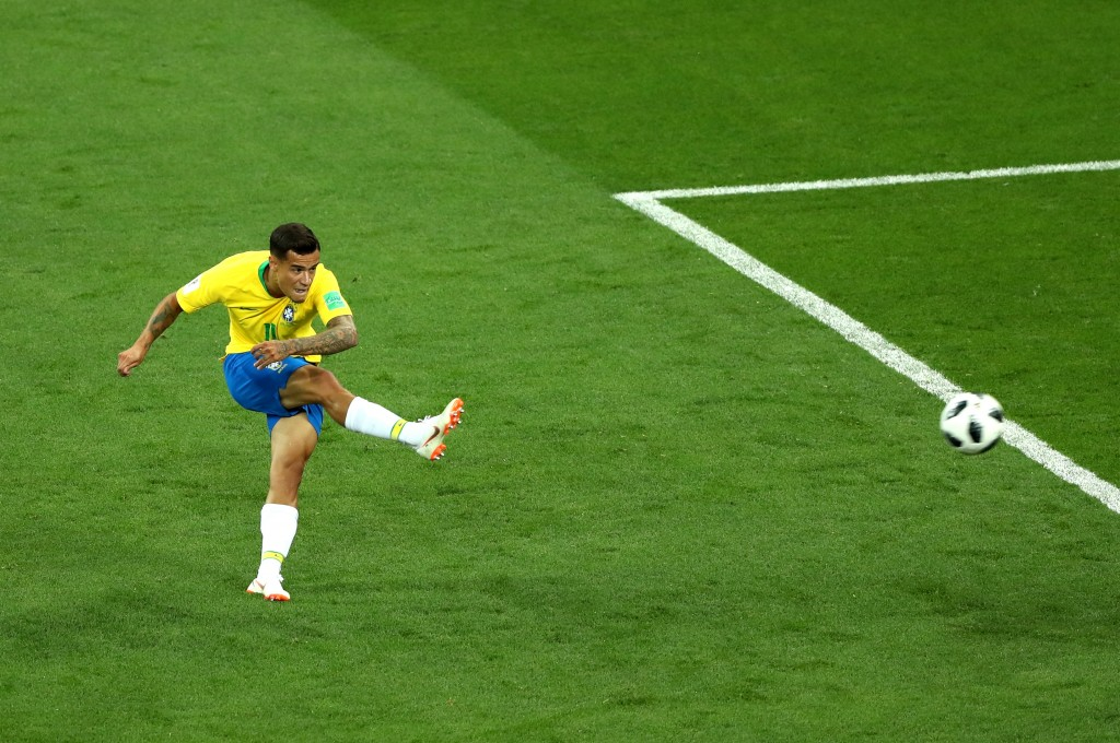 Curling it like Coutinho. (Picture Courtesy - AFP/Getty Images)
