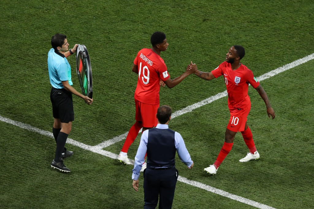 A good performance against Belgium could see Rashford take Sterling's place in the starting lineup for the knockouts. (Picture Courtesy - AFP/Getty Images)