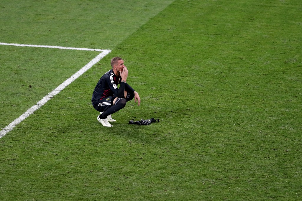 Olsen suffered heartbreak at the hands of Germany and Toni Kroos. (Picture Courtesy - AFP/Getty Images)