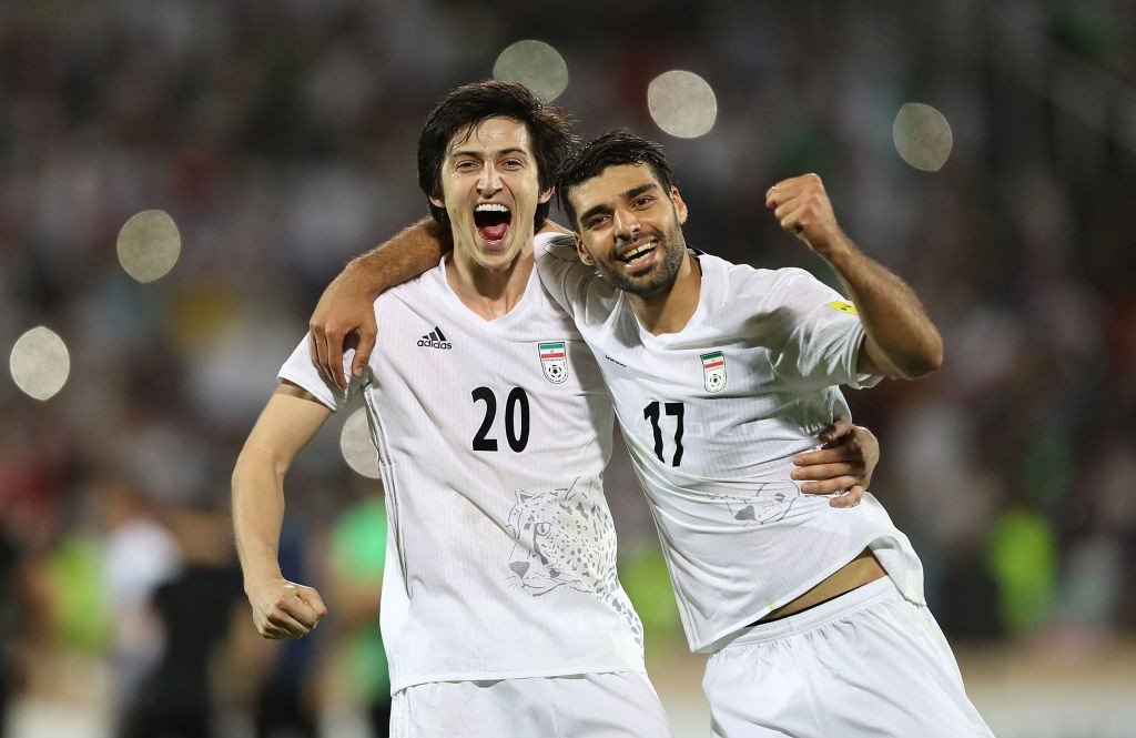 Iran's hopes at the World Cup will be pinned on a few key players including Sardar Azmoun (L) in Russia. (Photo courtesy: AFP/Getty)