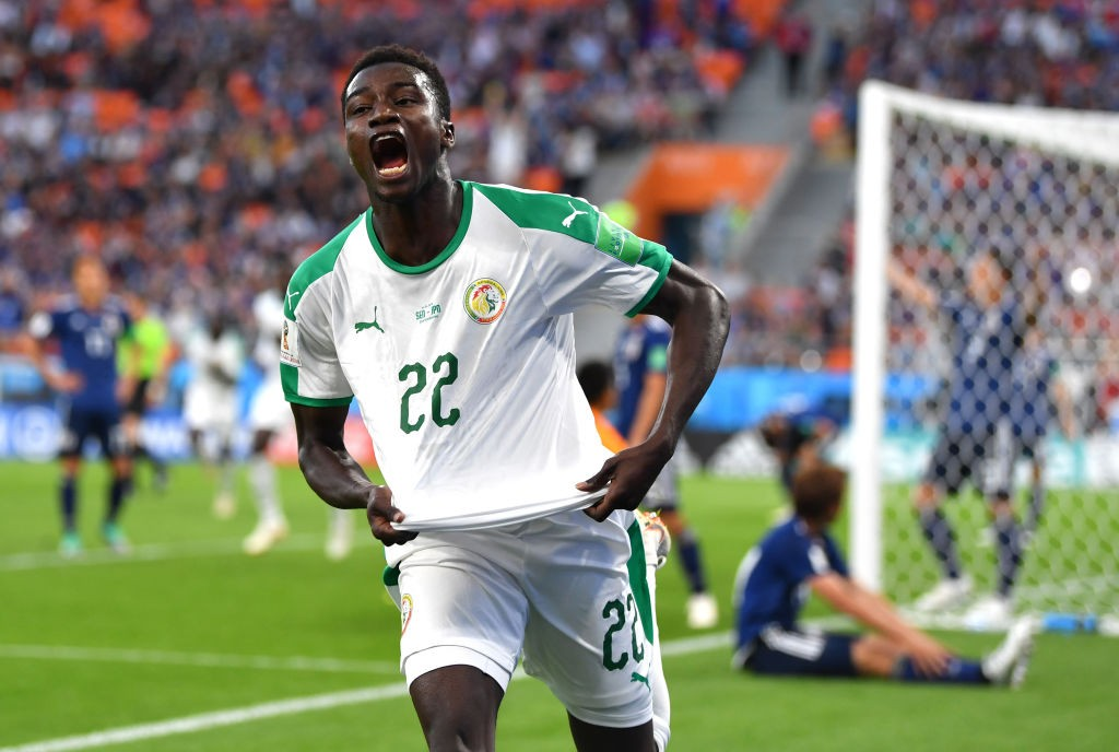 Moussa Vague had a top quality game as he set up one and scored another in Senegal-s 2-2 draw with Japan. (Photo courtesy: AFP/Getty)