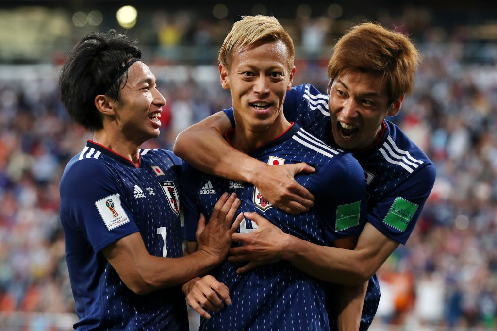 Keisuke Honda came off the bench to score a vital equaliser for Japan. (Photo courtesy: AFP/Getty)