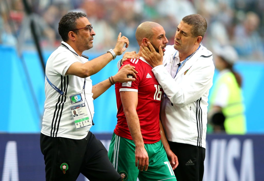 Nordin Amrabat is a doubt after suffering from a concussion against Iran. (Photo courtesy: AFP/Getty)