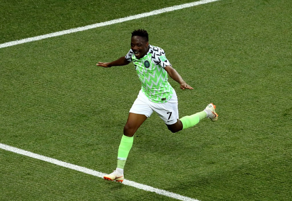 Ahmed Musa will be looking to continue his form and punish Argentina to help Nigeria qualify for the knockout stages. (Photo courtesy: AFP/Getty)