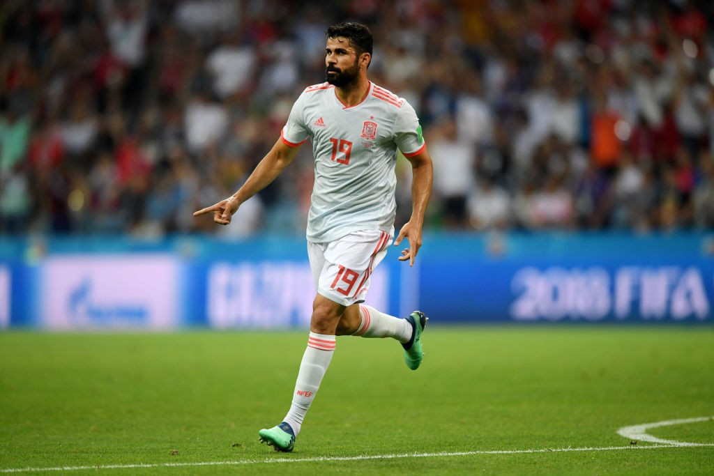 Back to scoring! Diego Costa already has three goals from two games at this World Cup. (Photo courtesy: AFP/Getty)