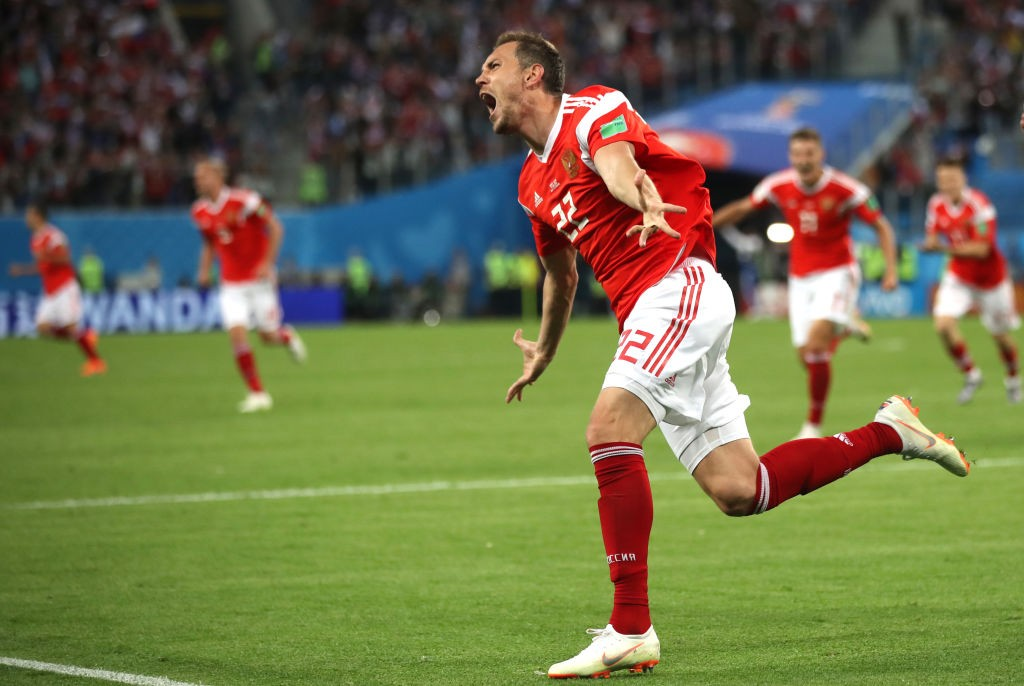 Artem Dzyuba will be Russia's biggest goal threat. (Photo by Julian Finney/Getty Images)