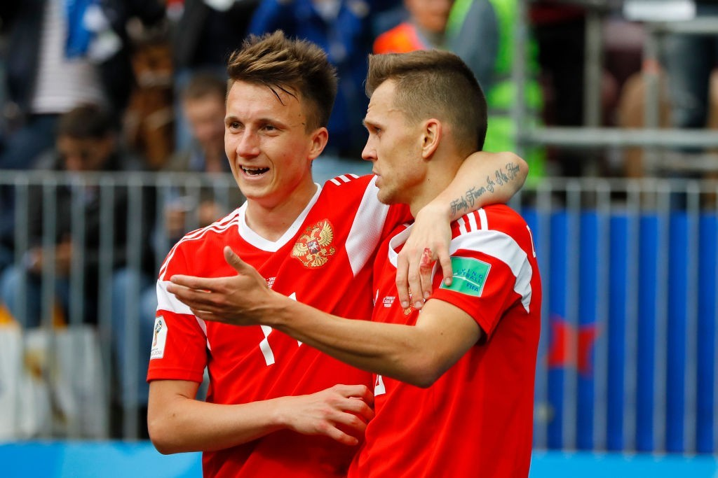 Aleksandr Golovin and Denis Cheryshev were the stars performers for Russia in their opening game. (Photo courtesy - Kevin C. Cox/Getty Images)