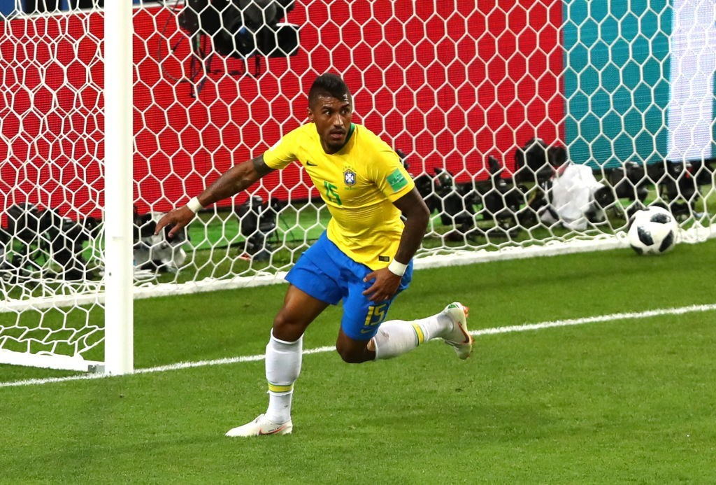 Paulinho's goal set Brazil on their way (Photo by Dean Mouhtaropoulos/Getty Images)
