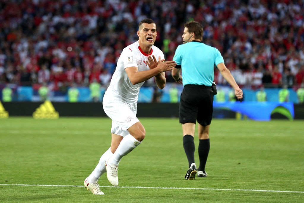 Xhaka's goal was a thing of beauty (Photo by Clive Rose/Getty Images)