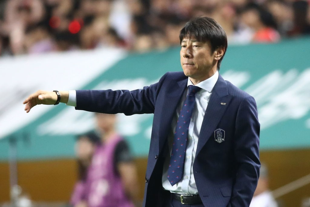 Manager Shin Tae-yong will be under pressure to deliver the results (Photo by Chung Sung-Jun/Getty Images)