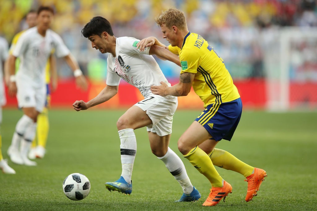 Son Heung-min didn't have the best of games against Sweden. (Photo courtesy - Clive Mason/Getty Images)