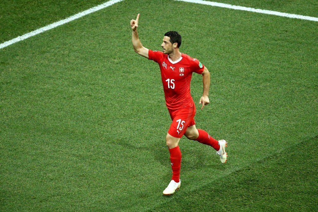Dzemaili scored the opener for Switzerland (Photo by Jan Kruger/Getty Images)