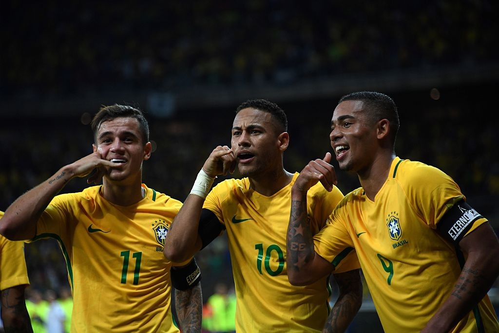 The trio of Coutinho, Neymar and Jesus will be key to Brazil's attacking display in Russia. (Photo courtesy: AFP/Getty)