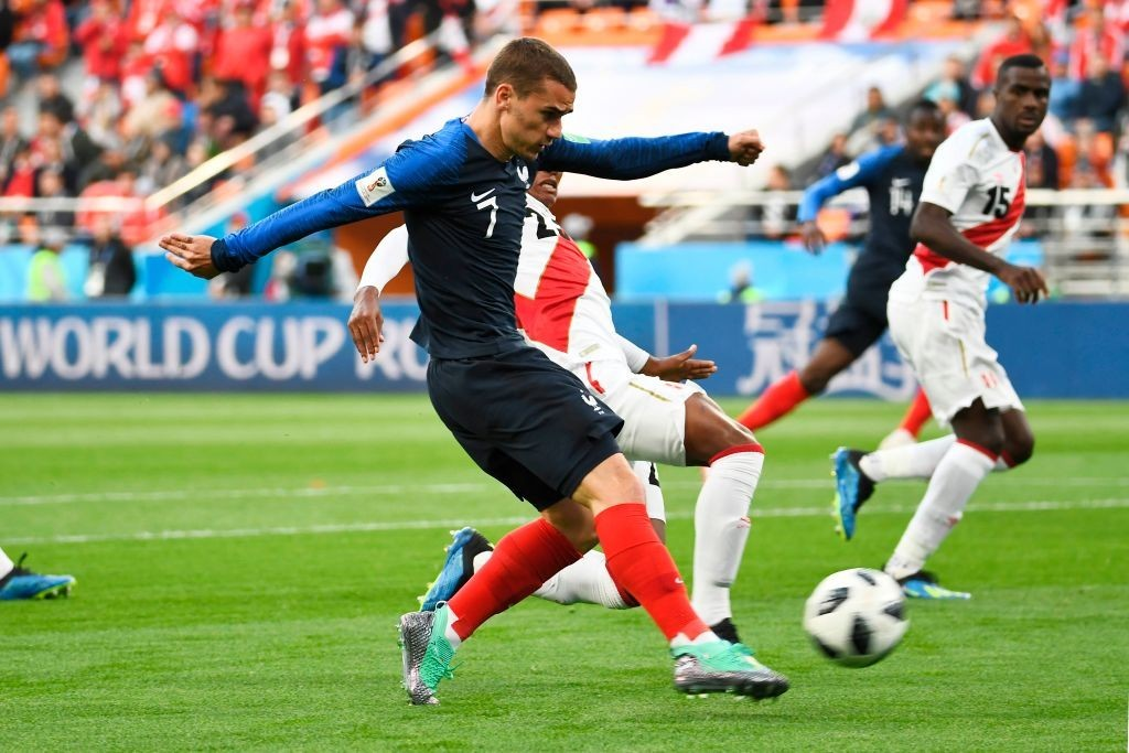Griezmann is yet to hit top gear for France (Photo by ANNE-CHRISTINE POUJOULAT/AFP/Getty Images)