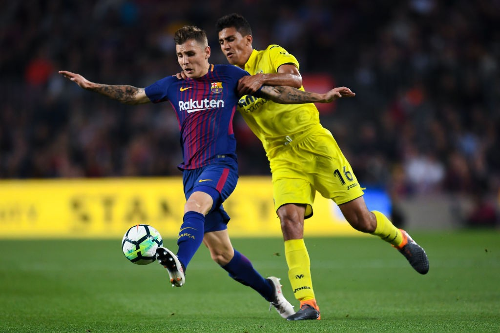 Since signing for Barcelona, Lucas Digne has only managed occasional appearances. (Photo courtesy: AFP/Getty)