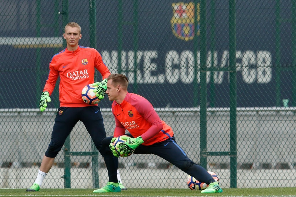 Eager to step out of Marc-Andre ter Stegen's shadows, Cillessen is set to be on the move this summer. (Photo courtesy - Pau Barrena/AFP/Getty Images)