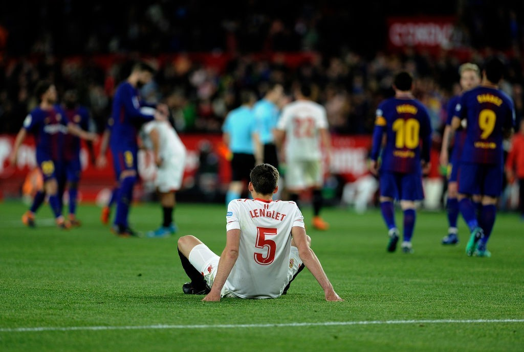 That's it for Lenglet at Barcelona. (Photo courtesy - Cristina Quicler/AFP/Getty Images)
