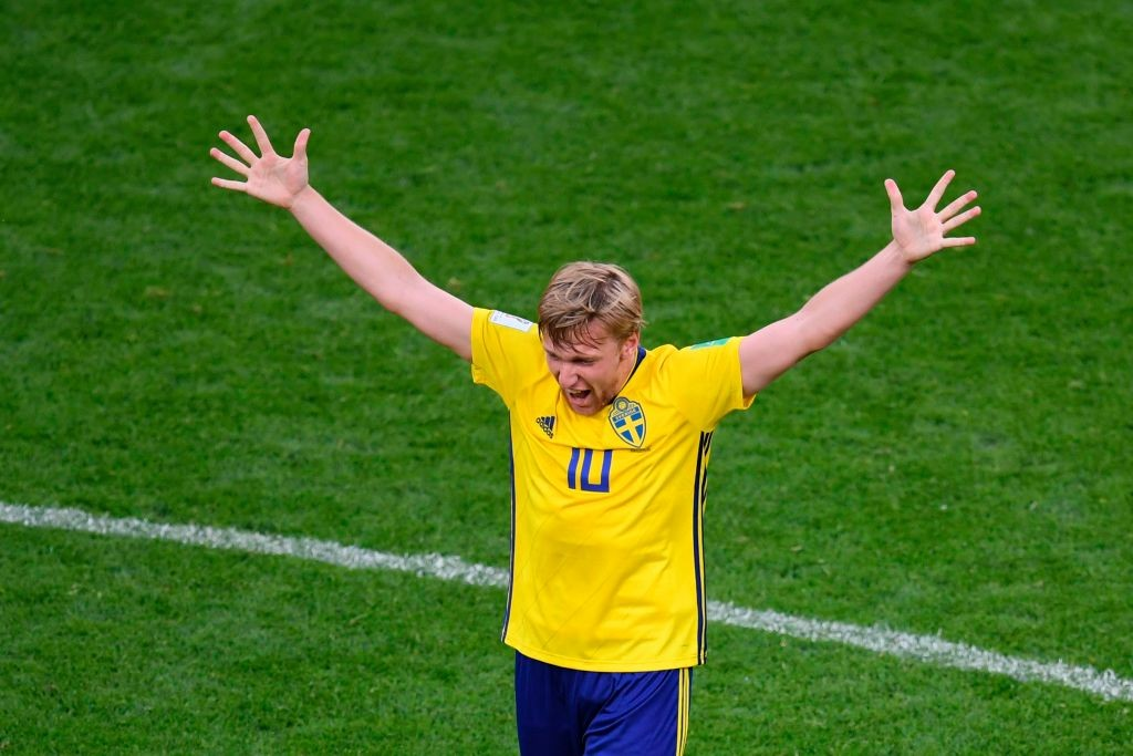 Forsberg is yet to find his best form in Russia (Photo by JORGE GUERRERO/AFP/Getty Images)