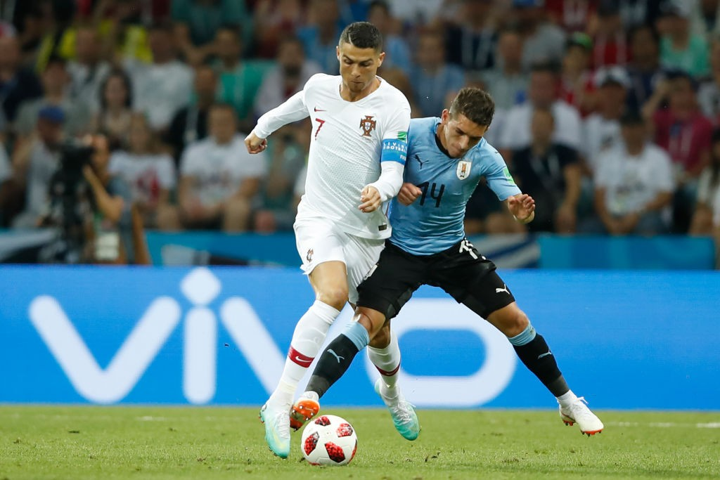 Lucas Torreira played a vital role in Uruguay's run to the quarterfinals of the World Cup. (Photo courtesy: AFP/Getty)
