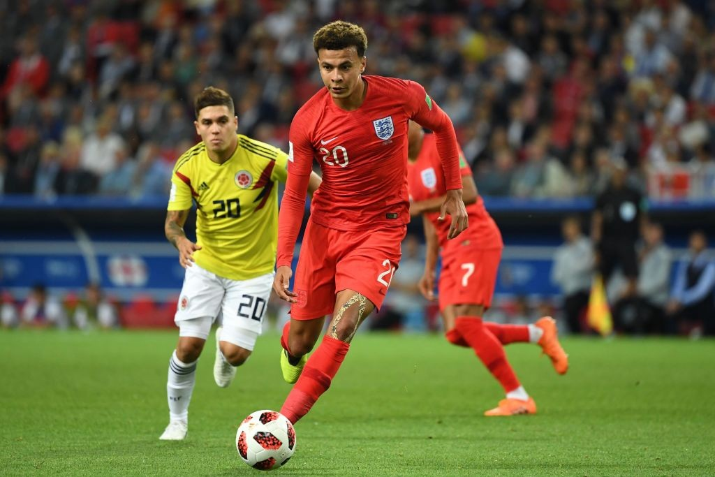 Dele Alli could be sidelined or or the bench after receiving a knock against Colombia. (Photo courtesy: AFP/Getty)