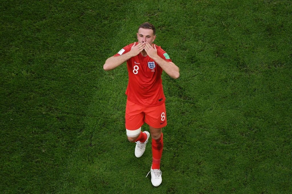Can Henderson nullify the Modric effect? (Photo by JEWEL SAMAD/AFP/Getty Images)