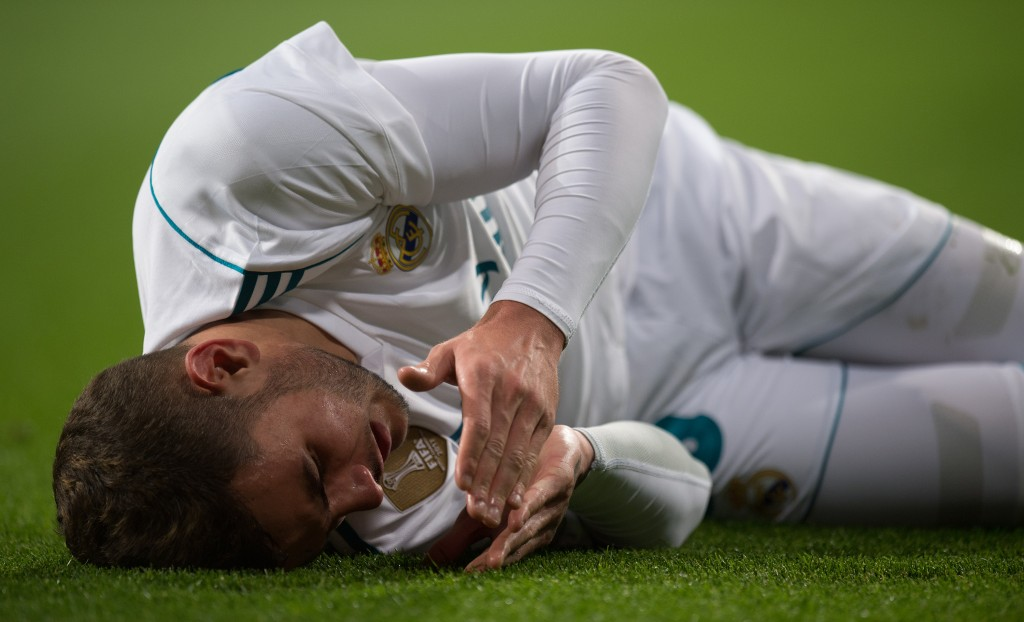 Theo Hernandez has endured a difficult time at the Bernabeu. (Photo by Denis Doyle/Getty Images)