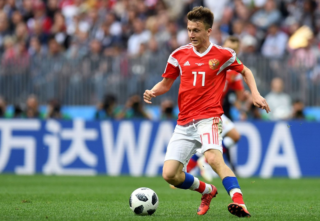 Golovin going! (Picture Courtesy - AFP/Getty Images)