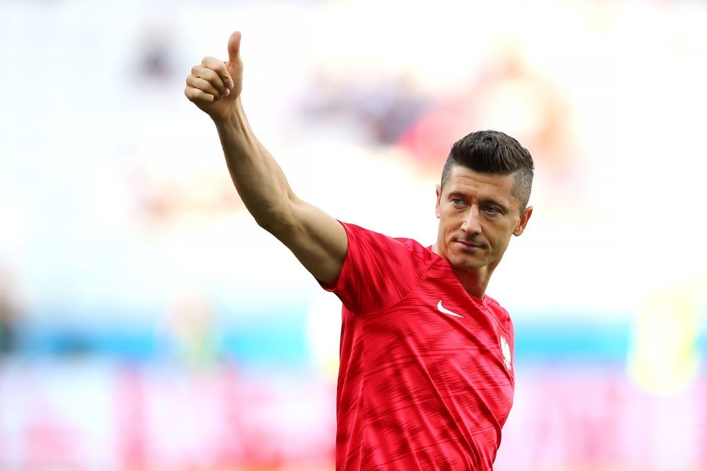 Will Lewandowski deliver the goods for Poland against England? (Photo by Alex Livesey/Getty Images)