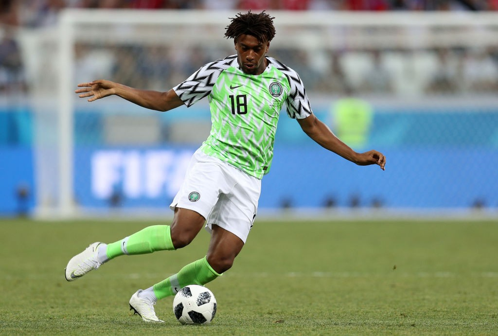 Alex Iwobi played all three games for Nogeria at the World Cup, but had a miserable tournament. (photo courtesy: AFP/Getty)