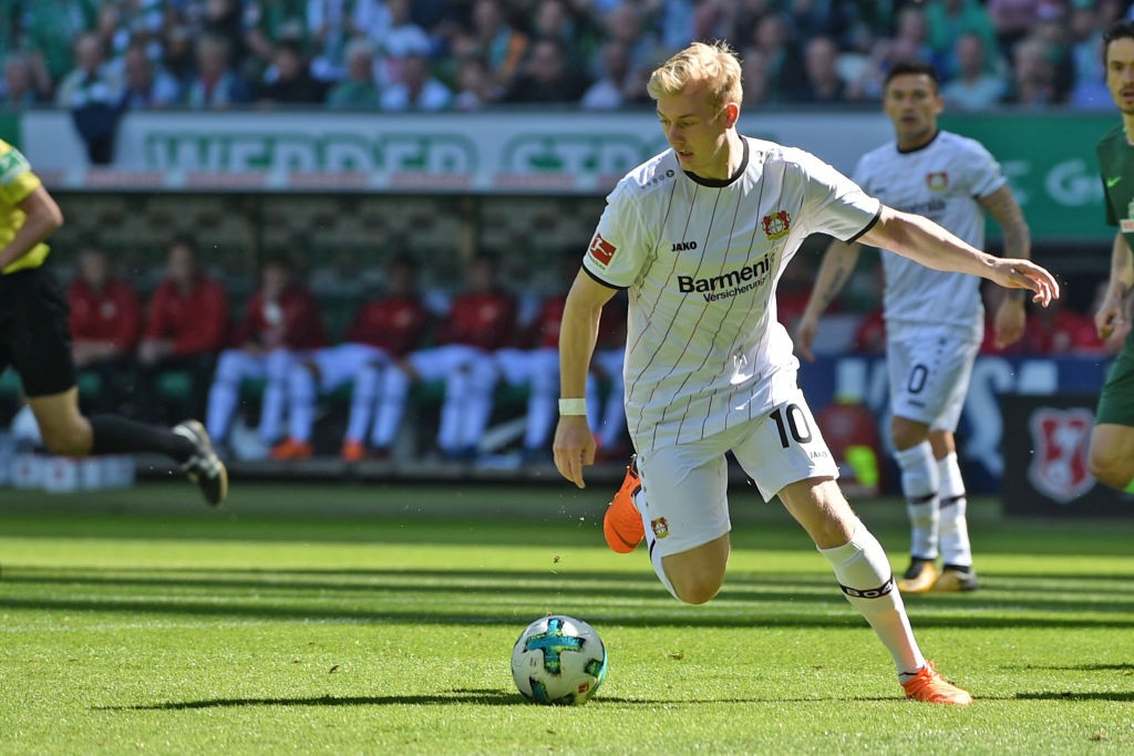 Bayer Leverkusen's Julian Brandt could be the ideal replacement for Philippe Coutinho at Liverpool. (Photo courtesy: AFP/Getty)