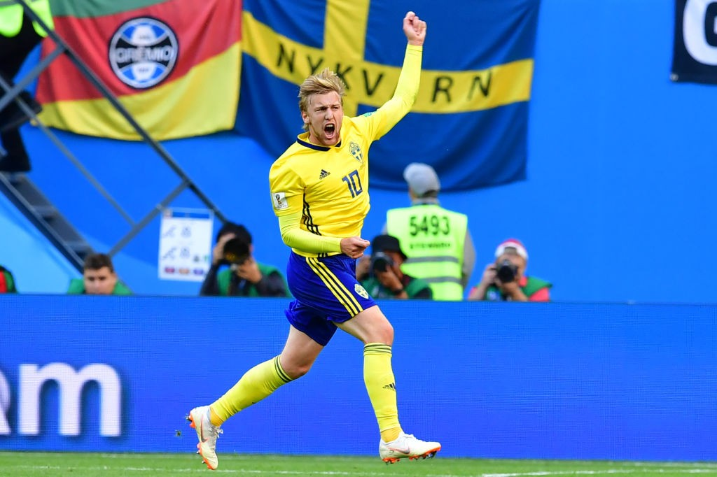 Emil Forsberg has been one of Sweden's top performers in Russia. (Photo courtesy: AFP/Getty)