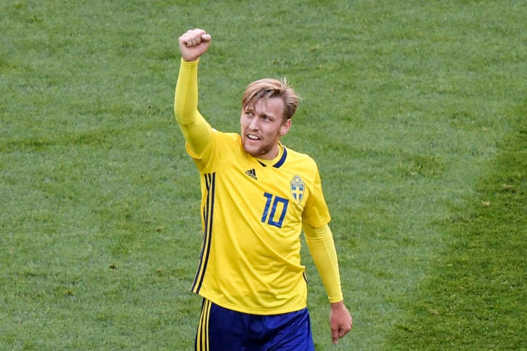 Emil Forsberg will be key to Sweden's chances against England. (Photo courtesy: AFP/Getty)