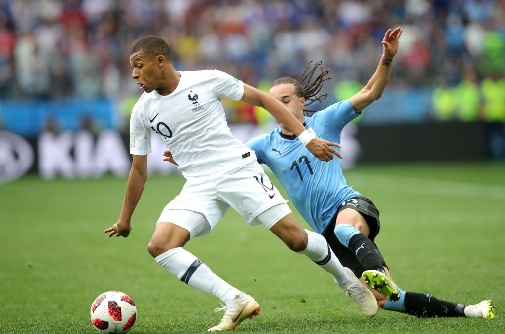 Of pace and fury! Kylian Mbappe is out there to torment the Belgian defence when the sides meet in the World Cup semi-finals. (photo courtesy: AFP/Getty)