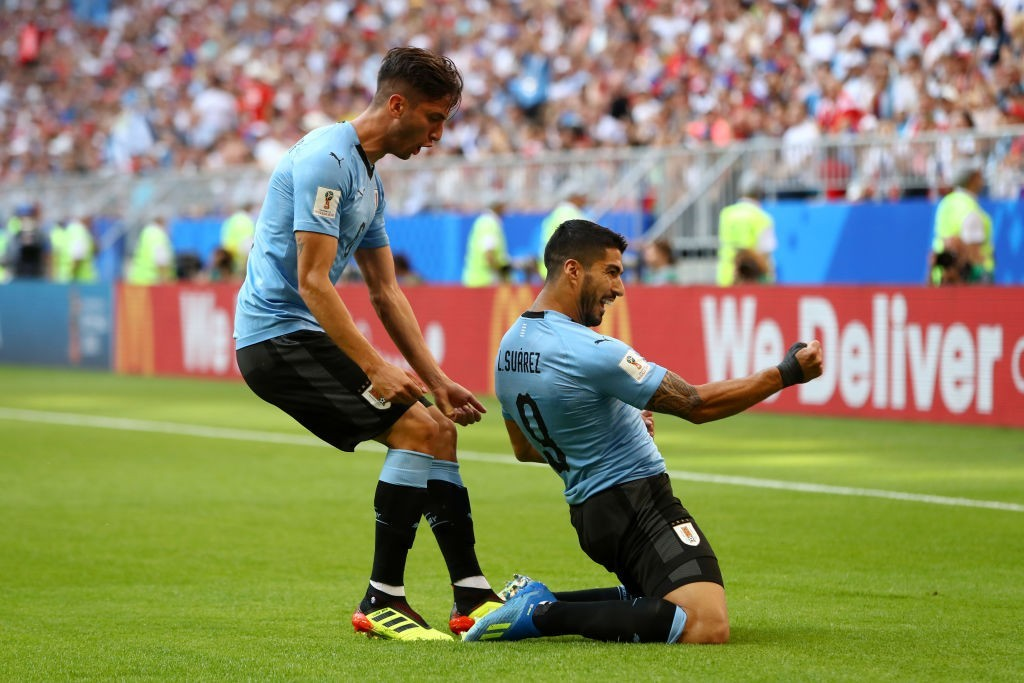 Could Bentancur join Suarez at Barcelona after the World Cup? (Photo courtesy - Dean Mouhtaropoulos/Getty Images)