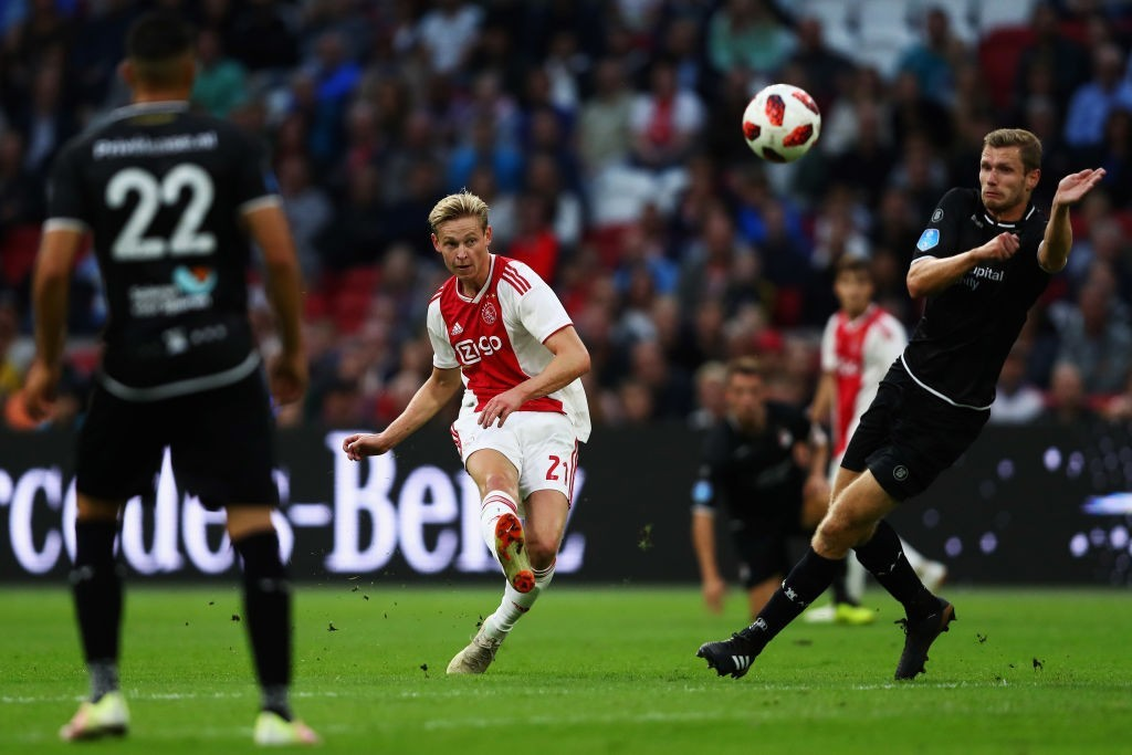Barcelona continue to pursue a move for Frenkie De Jong. (Photo courtesy - Dean Mouhtaropoulos/Getty Images)