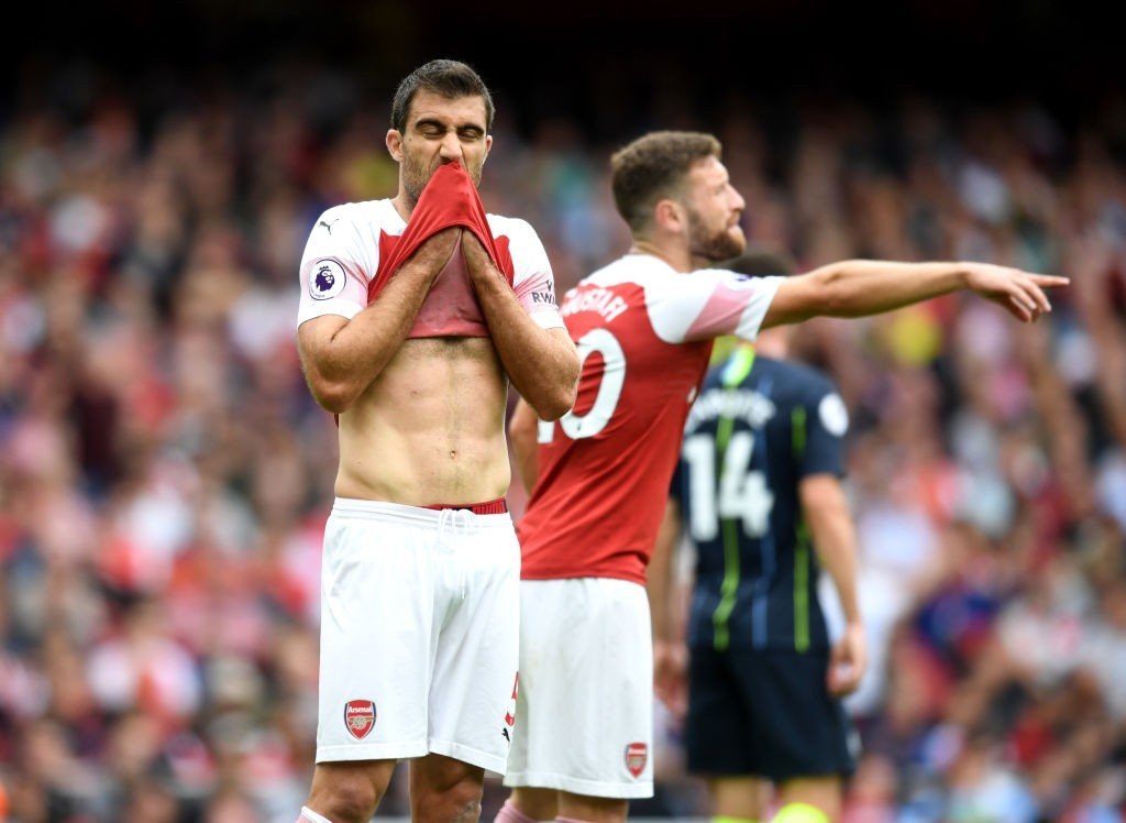 Sokratis is set to return from his injury for Arsenal against Watford. (Photo courtesy: AFP/Getty)