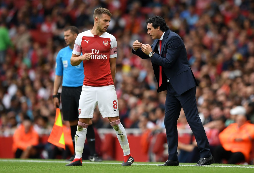 Will Unai Emery start Aaron Ramsey against West Ham after dropping the midfielder to the bench against Chelsea? (Photo courtesy: AFP/Getty)