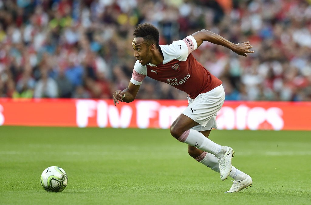 Aubameyang will be hoping to add to his two goals against Vorskla and shine against Everton. (Photo courtesy: AFP/Getty)