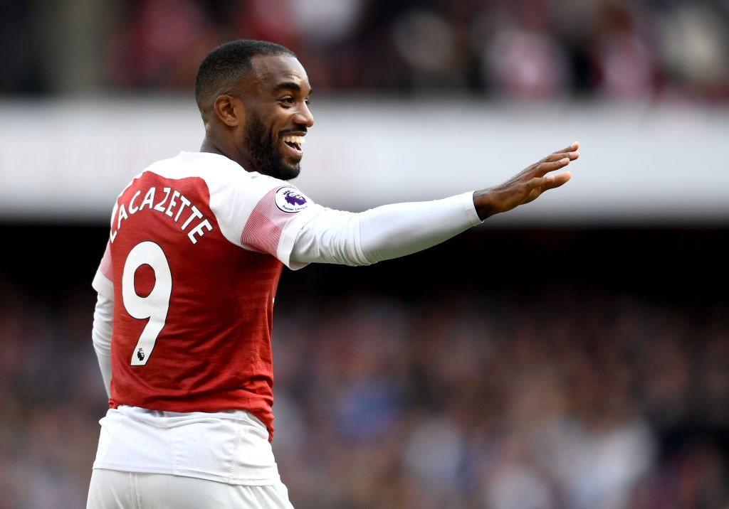 Despite being impressive in all three of Arsenal's games so far this season, Lacazette still finds himself on the Arsenal bench. (Photo courtesy: AFP/Getty)