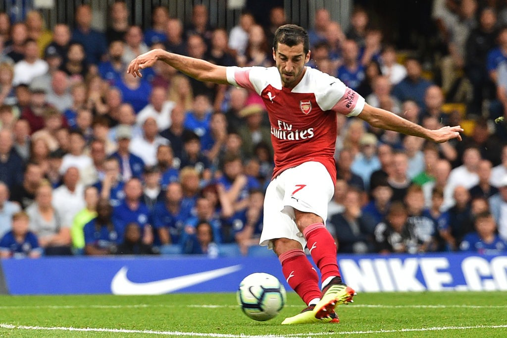 Mkhitaryan starred for Arsenal with a goal and assist to his name. (Photo courtesy: AFP/Getty)