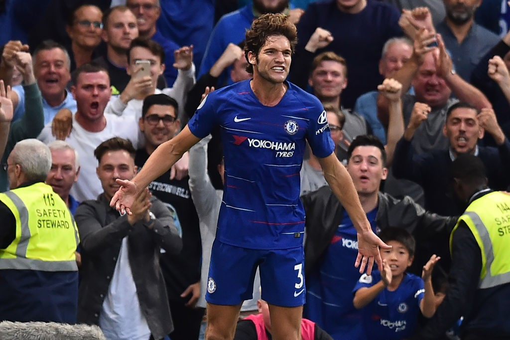 Real Madrid are reportedly eyeing a move for Marcos Alonso late in the transfer window. (Photo courtesy: AFP/Getty)