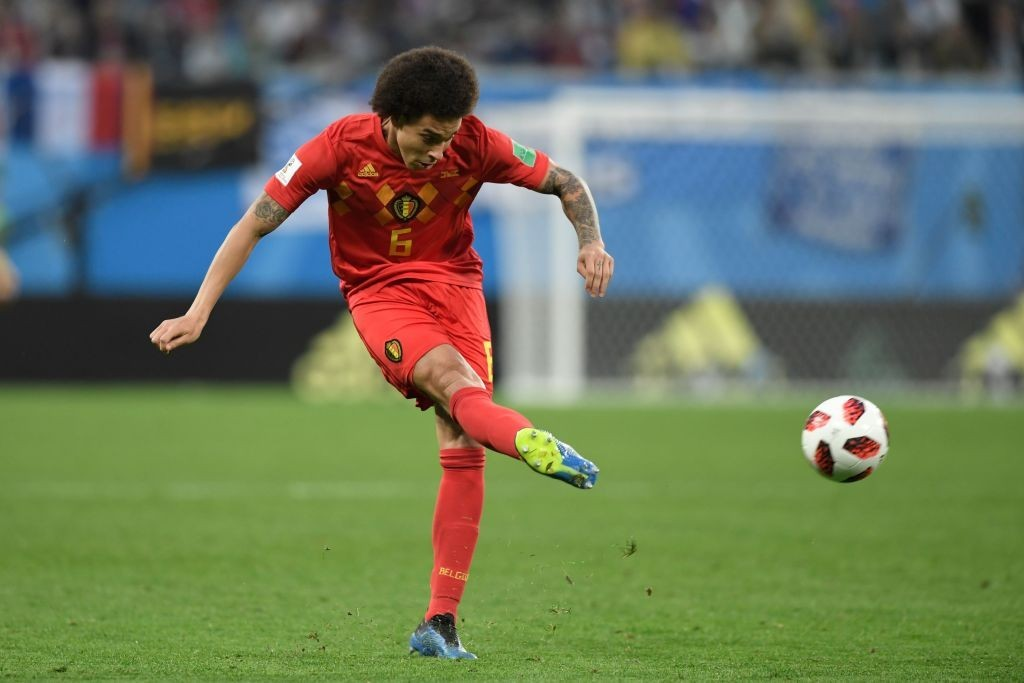 Axel Witsel will serve one-match suspension when Belgium take on Denmark. (Photo by Gabriel Bouys/AFP/Getty Images)