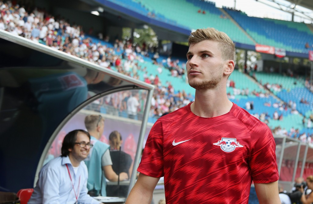Leipzig will be relying on the goalscoring exploits of Timo Werner. (Photo by Karina Hessland/Bongarts/Getty Images)