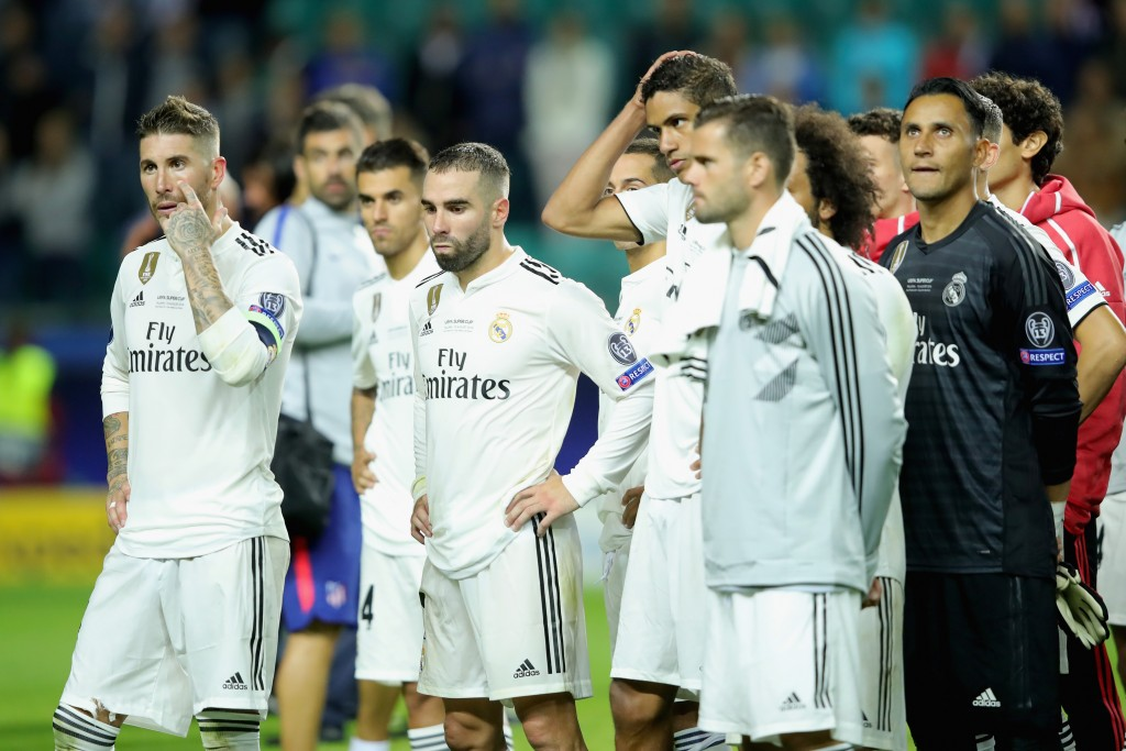 Real Madrid will aim to move on quickly from their UEFA Super Cup loss to Atletico Madrid. (Photo courtesy - Alexander Hassenstein/Getty Images)