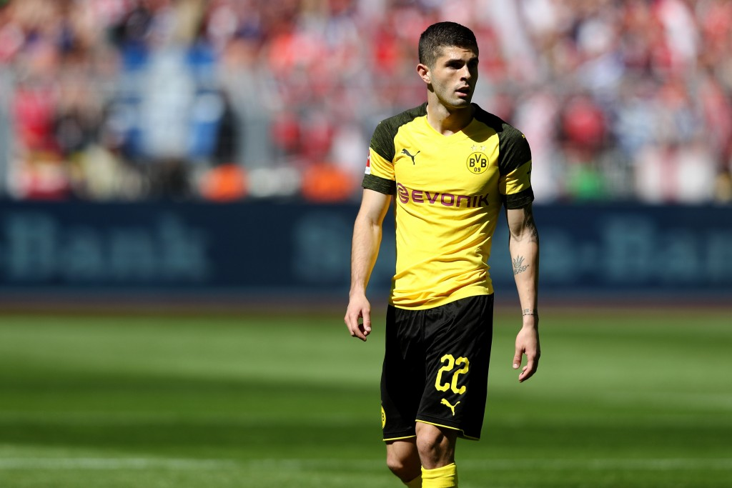 DORTMUND, GERMANY - MAY 05: Christian Pulisic of Dortmund is seen during the Bundesliga match between Borussia Dortmund and 1. FSV Mainz 05 at Signal Iduna Park on May 5, 2018 in Dortmund, Germany. (Photo by Christof Koepsel/Bongarts/Getty Images)